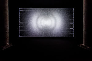Ryoji Ikeda data-verse 1, 2019 DCI-4K DLP projector, computer, speakers