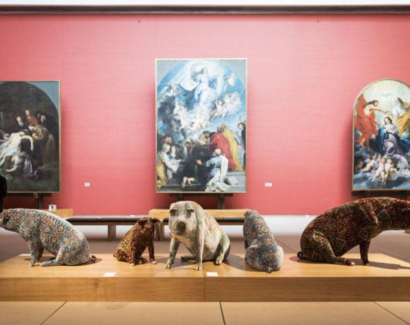 Wim Delvoye – Musées Royaux des Beaux Arts de Bruxelles. Vista dell'installazione. CourtesyMusées Royaux des Beaux Arts de Bruxelles