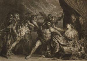 stampa di Sansone e Dalila di A. van Dyck