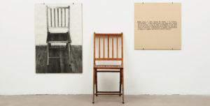 Joseph Kosuth, Una e tre sedie, 1965
