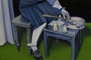 Il rito. Olio su tavola, 20x30 cm, 2015