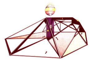 1 Mario Volpi-Casa percorribile con difficoltà-1973-53x80cm