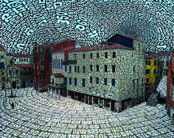 Tobia Ravà, Le anime del ghetto, 2018, catalizzazione UV su alluminio, 90 x 110 cm, courtesy Galleria L'Occhio di Elisabetta Donaggio, Venezia