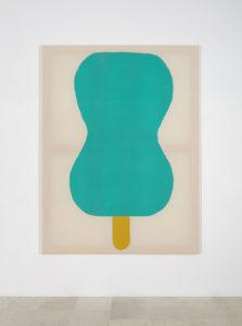 Adelaide Cioni, Go easy on me, one green, 2018, stoffa su tela/fabric on canvas, cm 192 x 144, ph Carlo Favero, courtesy l'artista e P420, Bologna