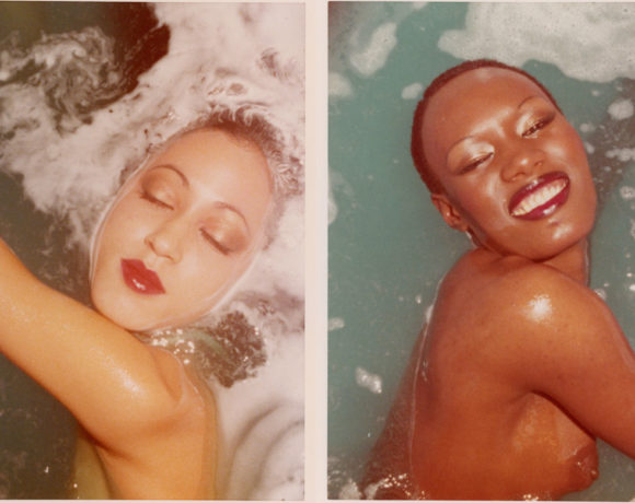 Antonio Lopez, Pat Cleveland and Grace Jones, Blue Water Series, Paris, 1975, © The Estate of Antonio Lopez and Juan Ramos