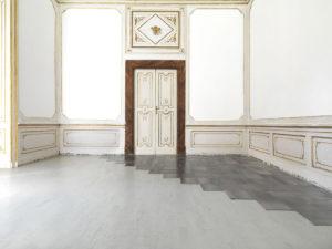 Carl Andre, vista dell'installazione Steel Sum 15, alla Galleria Artiaco, 2013, ph courtesy Alfonso Artiaco, Napoli