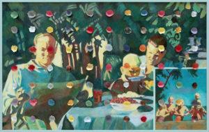 - Ilya Kabakov, Holiday#5, 2014, olio su tela, 100,5x160x8, Collezione Ernesto Esposito
