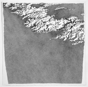 Giulia Napoleone, Au bord du vide, 2019, Indian ink, Arches paper, 103x103 cm