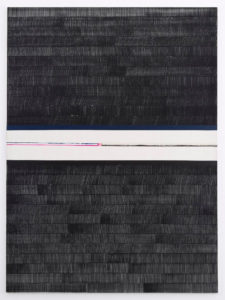 Juan Uslé, Soñé que revelabas (Kaveri), 2018, vinyl, dispersion and dry pigment on canvas, 275 x 203 cm, ph courtesy Galleria Alfonso Artiaco, Napoli