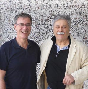 Boris Brollo (a dx) con il gallerista francese Patrick Bedout