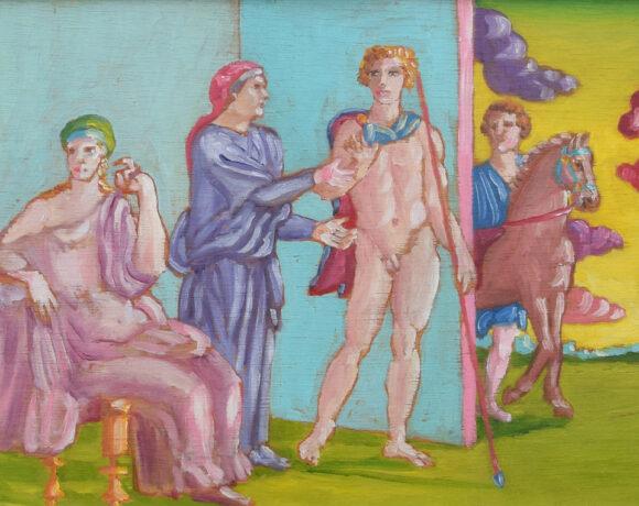 Flashback 2020: Salvo, Ippolito e Fedra, 1977, 27 x 42 cm, olio su tavola. Courtesy Claudio Poleschi Arte Contemporanea, Dogana, RSM