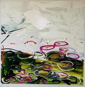 Mario Schifano, Senza titolo, 1984. Smalto e acrilico su tela, 100x100 cm