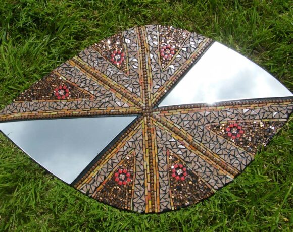 Charlotte, a. Cornish, The Shield (Mirror) Mosaic Art, Mosaic Work on Board - Wood 2020