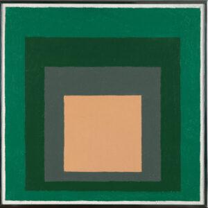 Josef Albers, Homage to the square, 1958, olio su masonite, 41 x 41 cm, Collezione Biscozzi | Rimbaud