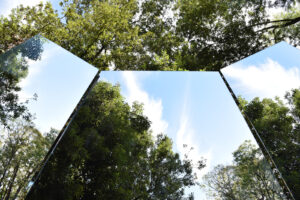 """Il Limes e l'invasione: Nantia Skordopoulou, installazione """"The Window / Eve & Adam"""", Parco Europa Unita di Cervignano del Friuli, 2020"""