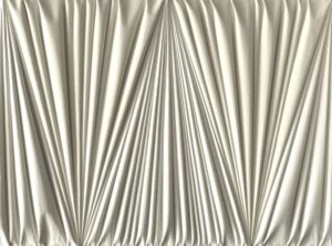 Umberto Mariani, Senza titolo, 2011, Vinilico e sabbia su lamina di piombo, cm 60,5 x 80,5