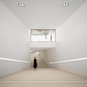 Dettaglio interno di Amos Rex Art Museum (progetto di JKMM Architects), ph Tuomas Uusheimo, courtesy Amos Rex