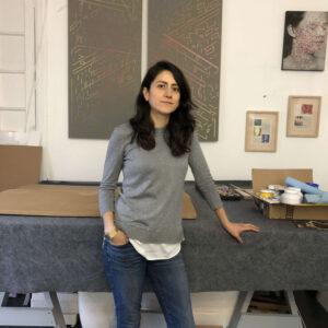 Elisa Pinto nel suo studio