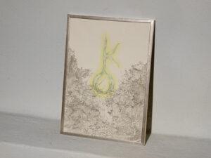 Sabrina Muzi, Attraverso [Chéirōn], 2021, disegno tecnica mista su carta Xuan con spot d'oro, ph credits Marcello Tedesco
