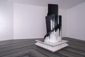 Nikita Kadan, Anonymous, Tarred, 2021. Marble, wood, resin. Produced by PinchukArtCentre and Voloshyn Gallery