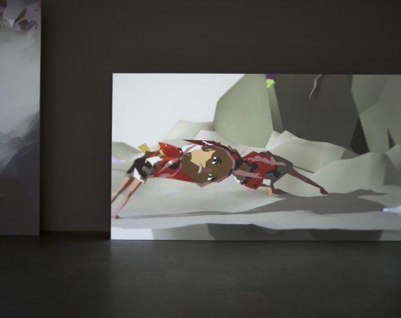 Ian Cheng, The Emissary In the Squat of God, 2015, installation view at Fondazione Sandretto Re Rebaudengo, Torino, photo Maurizio Elia, courtesy Fondazione Sandretto Re Rebaudengo