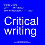 Corso Online in Critical Writing